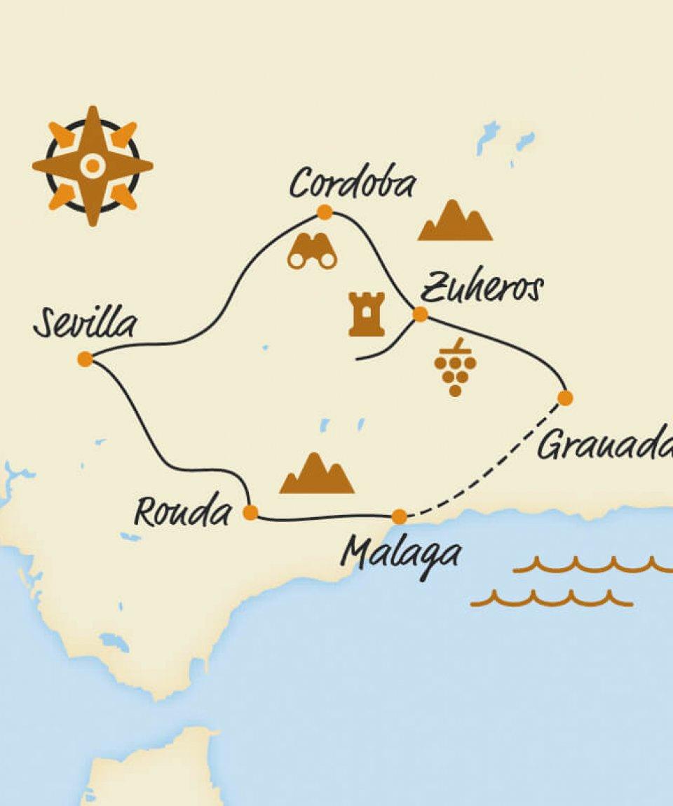 Belvelo2018_Karte_Andalusien_Kultur