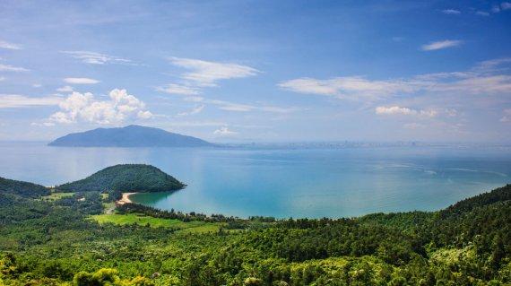 Nam Chon Bay - Hai Van pass, Da Nang, Vietnam. Nam Chon bay at t