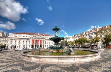 Place Don Pedro IV à Lisbonne