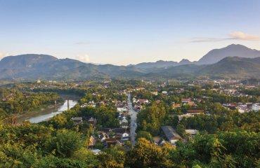 Sunset in Luang prabang.