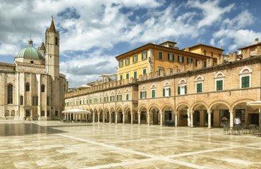 Piazza del Popolo in Ascoli Piceno Italy