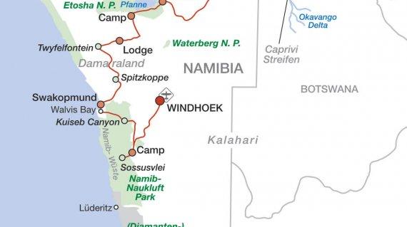 2020 Namibia und Viktoriafälle intensiv