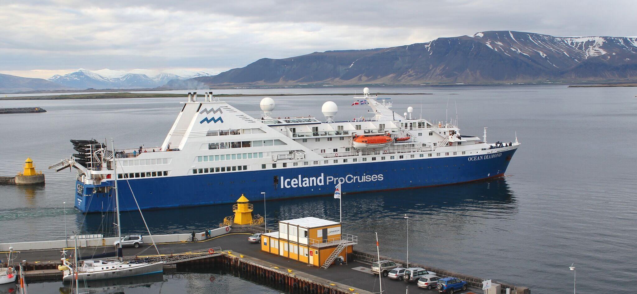 Reykjavik - Island Umrundung an Bord der OCEAN DIAMOND